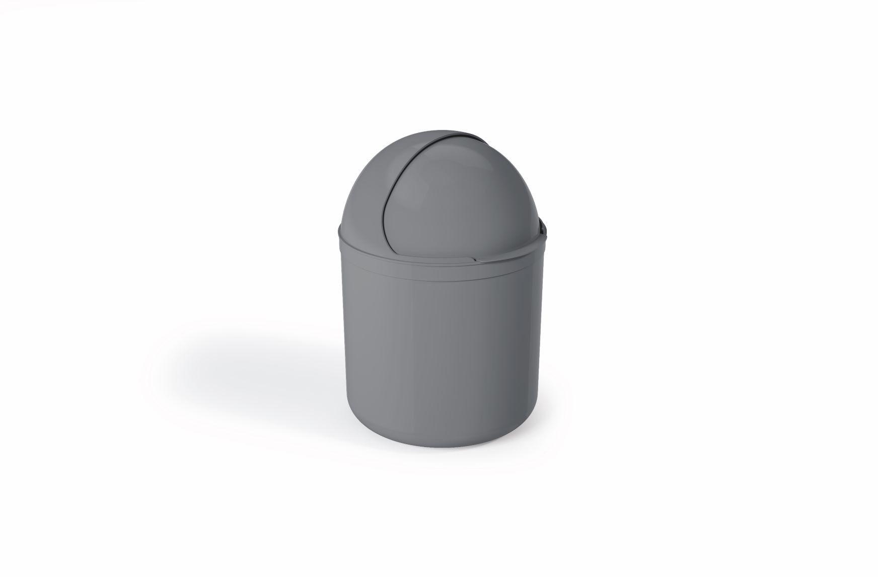 Lixeira Para Pia Plástico 4 Litros - UZ  Cinza
