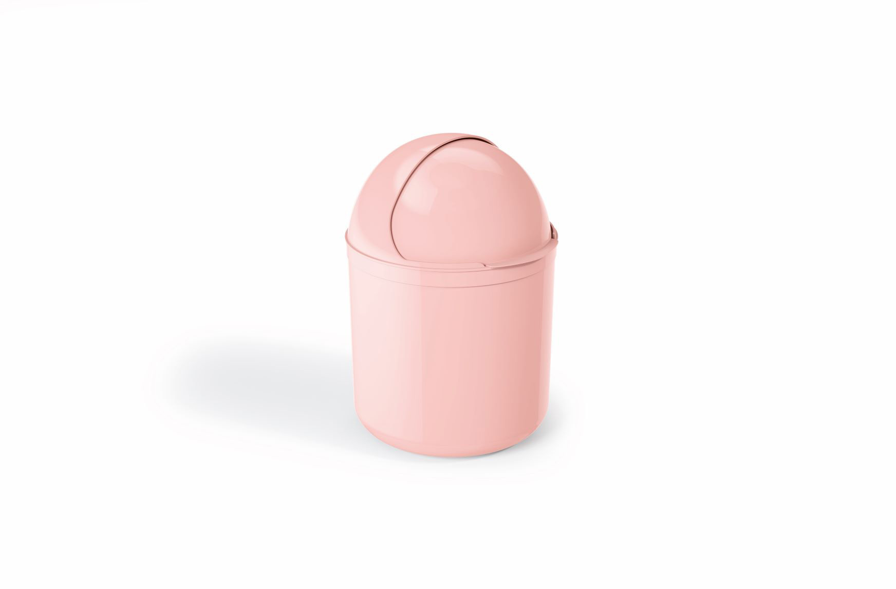 Lixeira Para Pia Plástico 4 Litros - UZ Rosa
