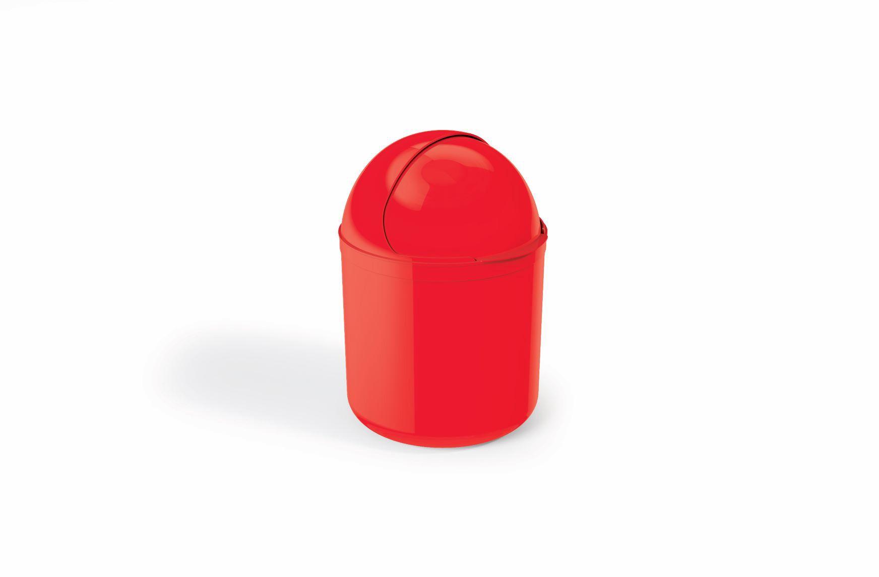 Lixeira Para Pia Plástico 4 Litros - UZ Vermelho