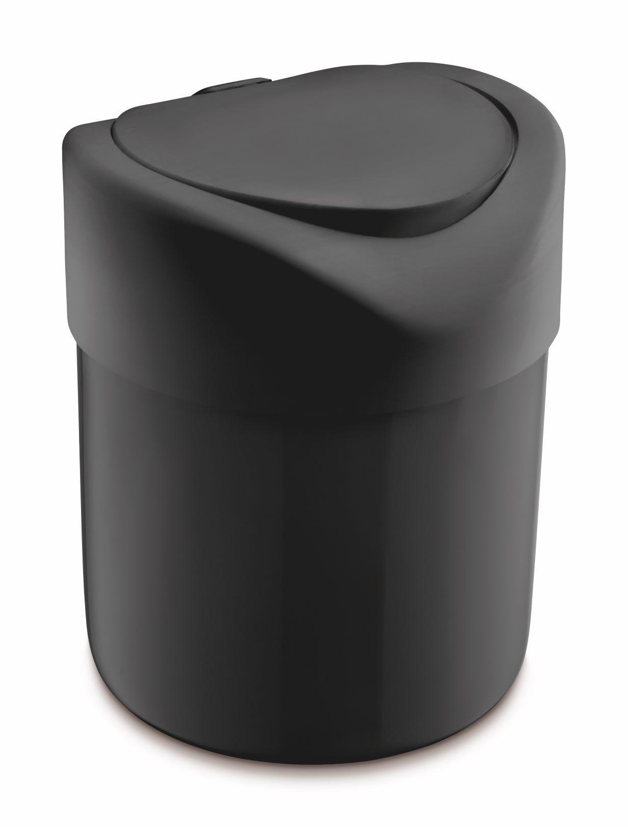Lixeira Para Pia Plástico Premium 4 Litros  UZ Preto