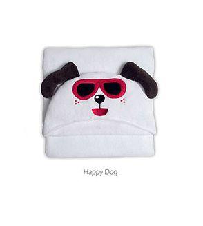 Manta Microfibra Infantil Com Capuz Buettner Happy Dog