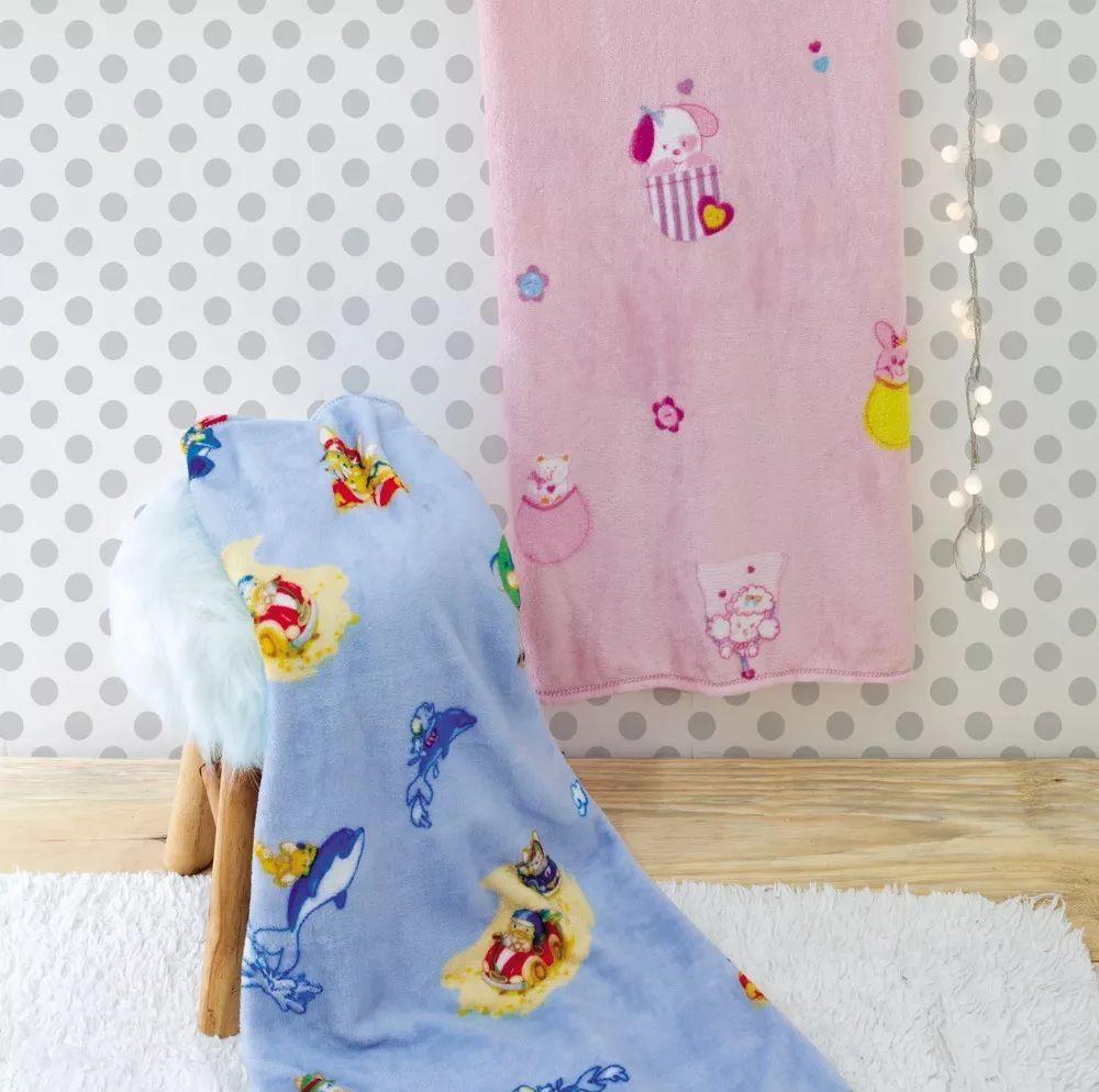 Manta Para Bebê Carinho Jolitex - Azul
