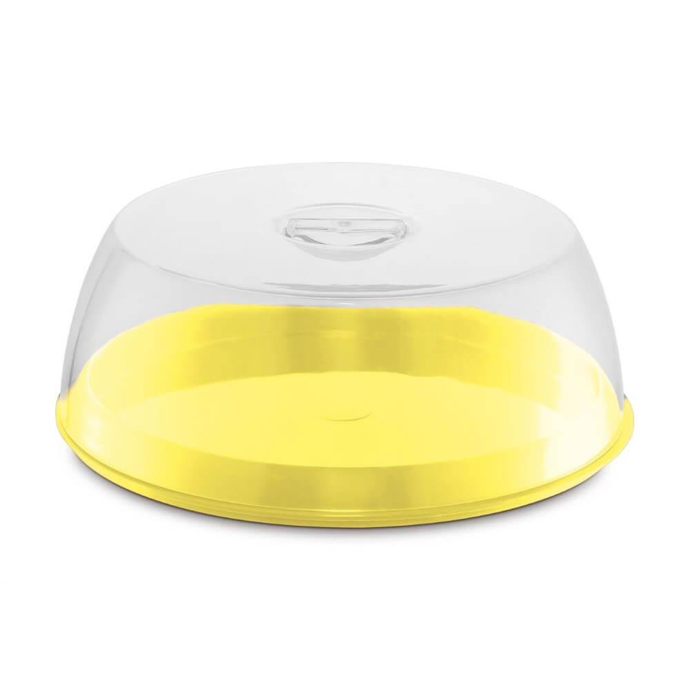 Porta Bolo Plus Plástico/Acrílico  UZ - Amarelo