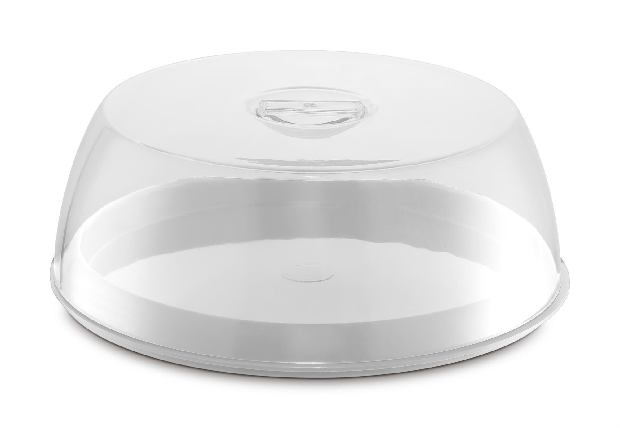 Porta Bolo Plus Plástico/Acrílico  UZ - Branco
