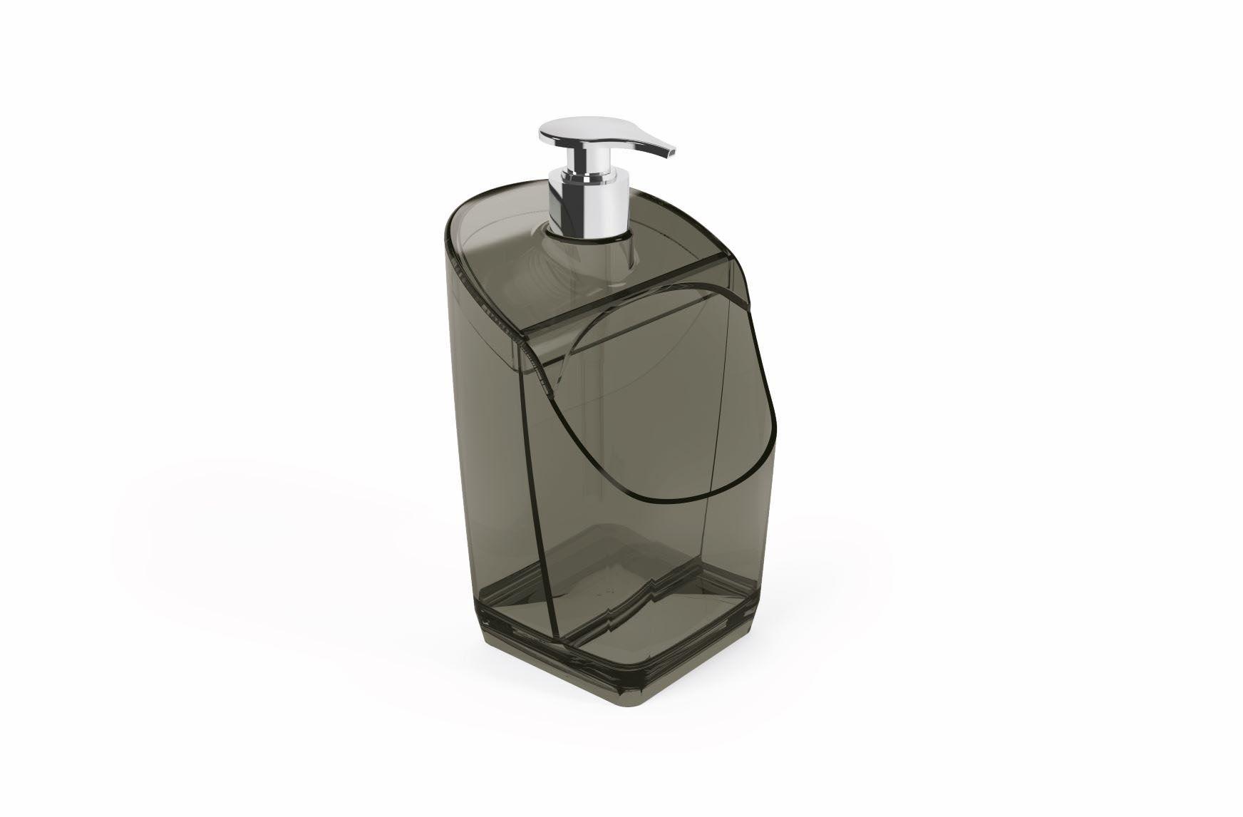 Porta Detergente Com Suporte Para Esponja Acrílico UZ Preto