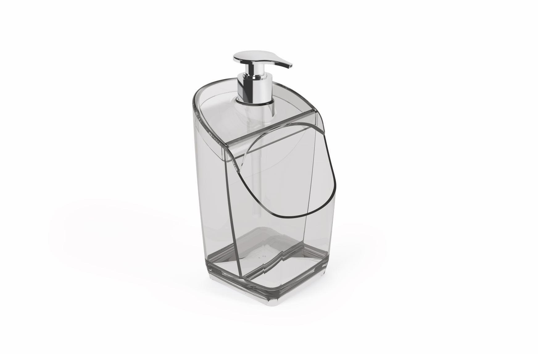 Porta Detergente Com Suporte Para Esponja Acrílico UZ Transparente