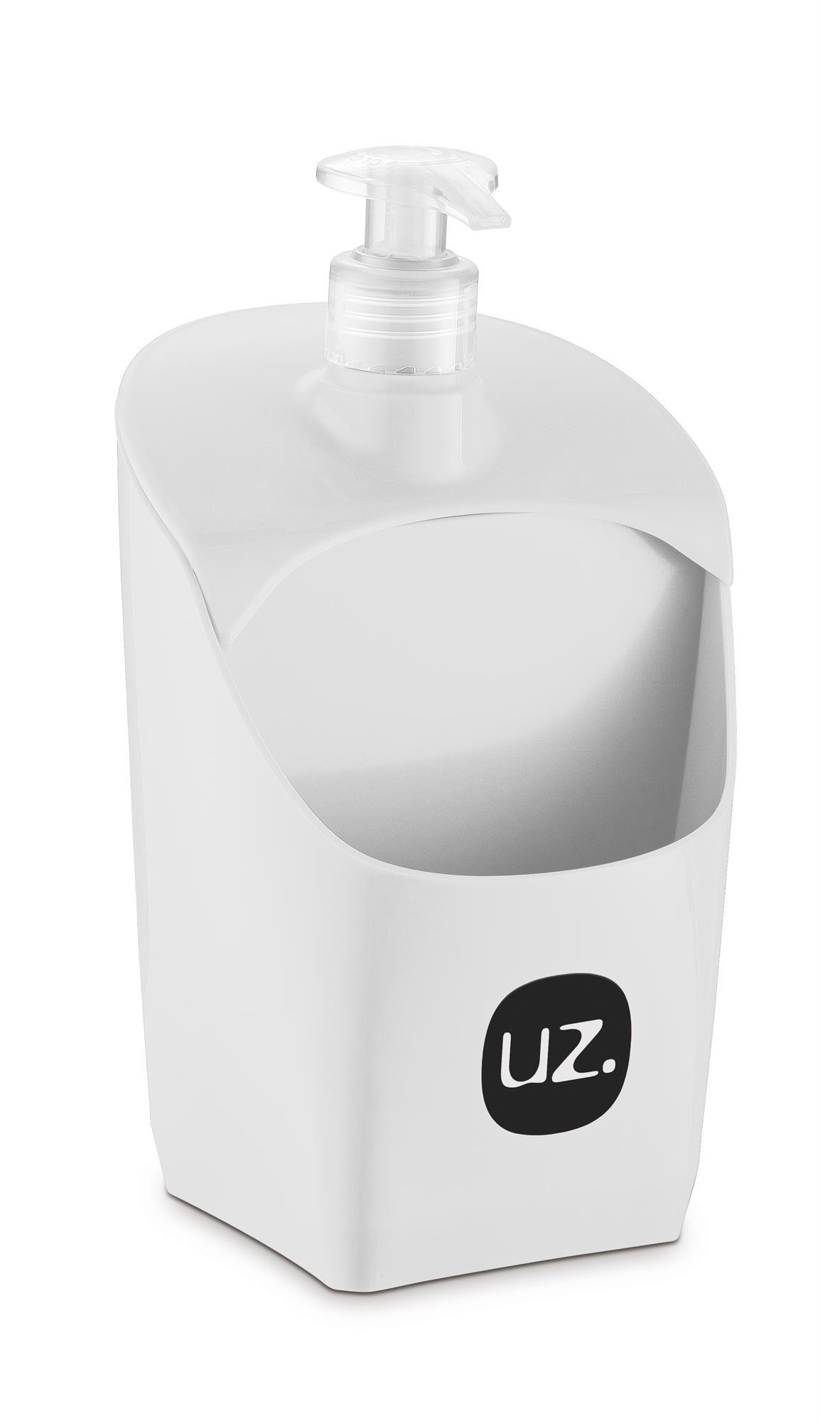 Porta Detergente Com Suporte Para Esponja Plástico UZ Branco