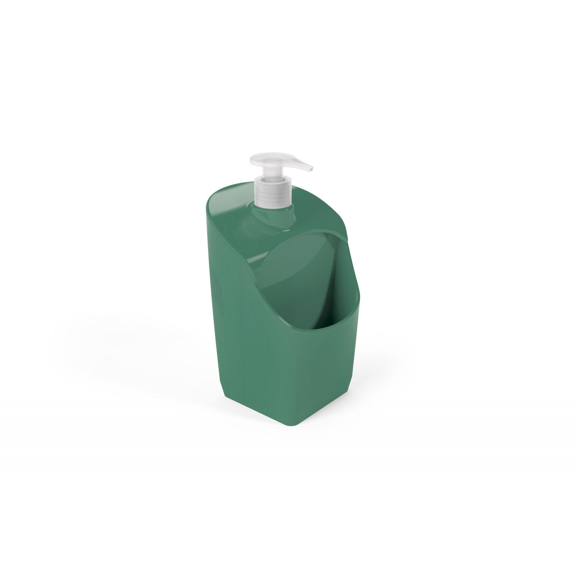 Porta Detergente Com Suporte Para Esponja Plástico UZ Verde