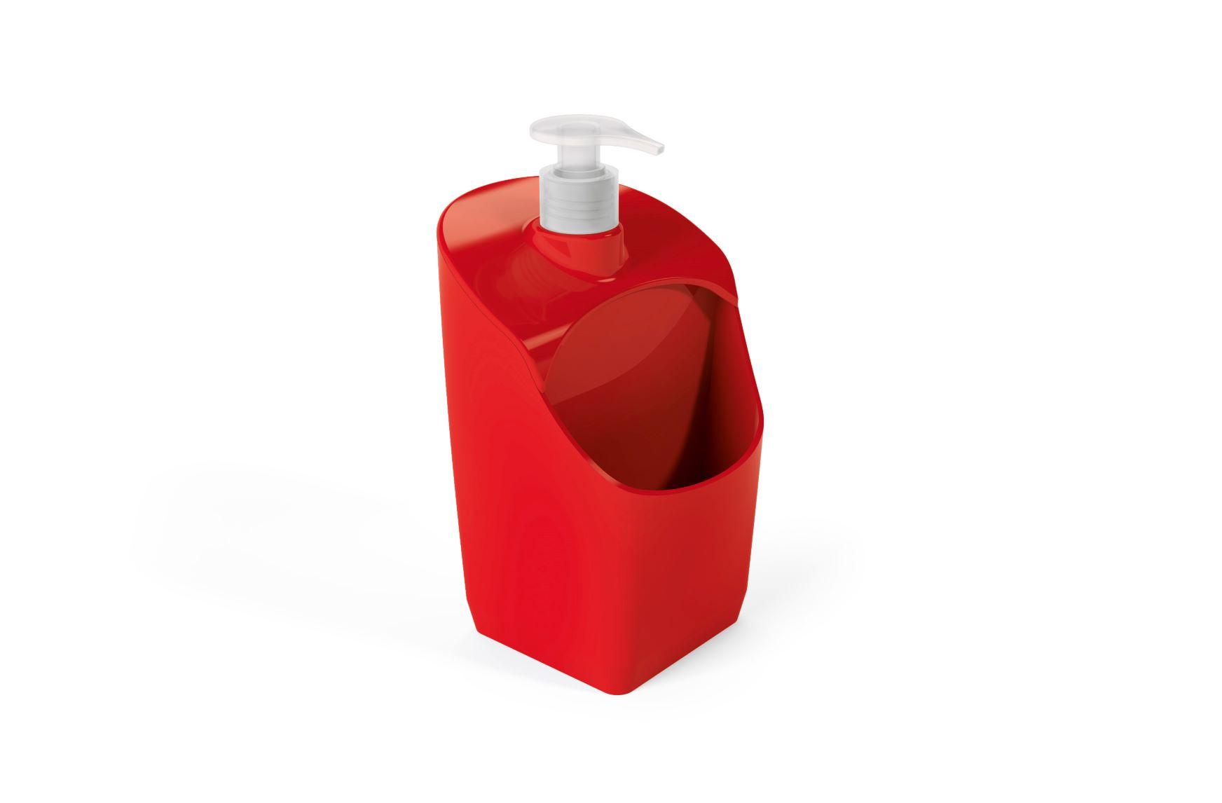 Porta Detergente Com Suporte Para Esponja Plástico UZ Vermelho