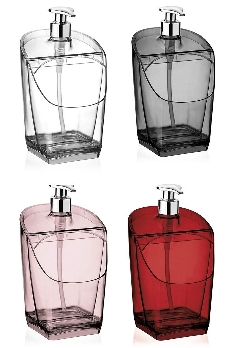 Porta Detergente Dispenser Com Suporte Para Esponja Plástico Acrílico Vision Uz