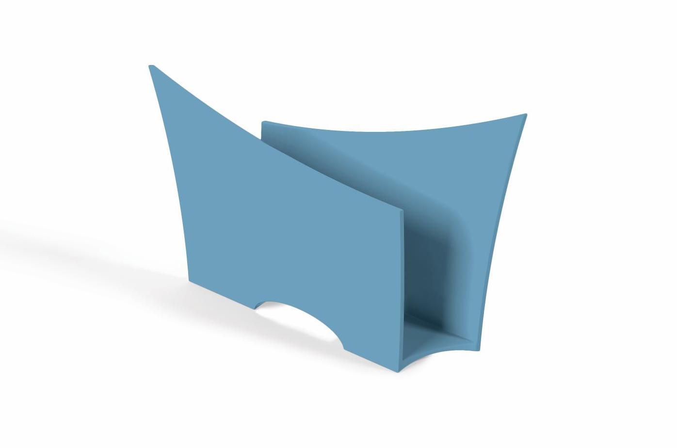 Porta Guardanapo Quadrado Plástico UZ Utilidades Azul