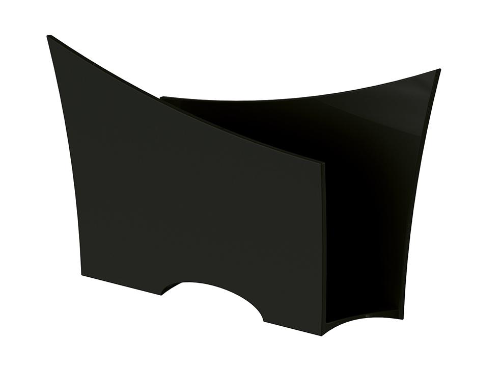 Porta Guardanapo Quadrado Plástico UZ Utilidades Preto