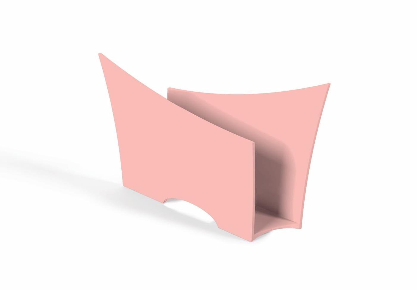 Porta Guardanapo Quadrado Plástico UZ Utilidades Rosa