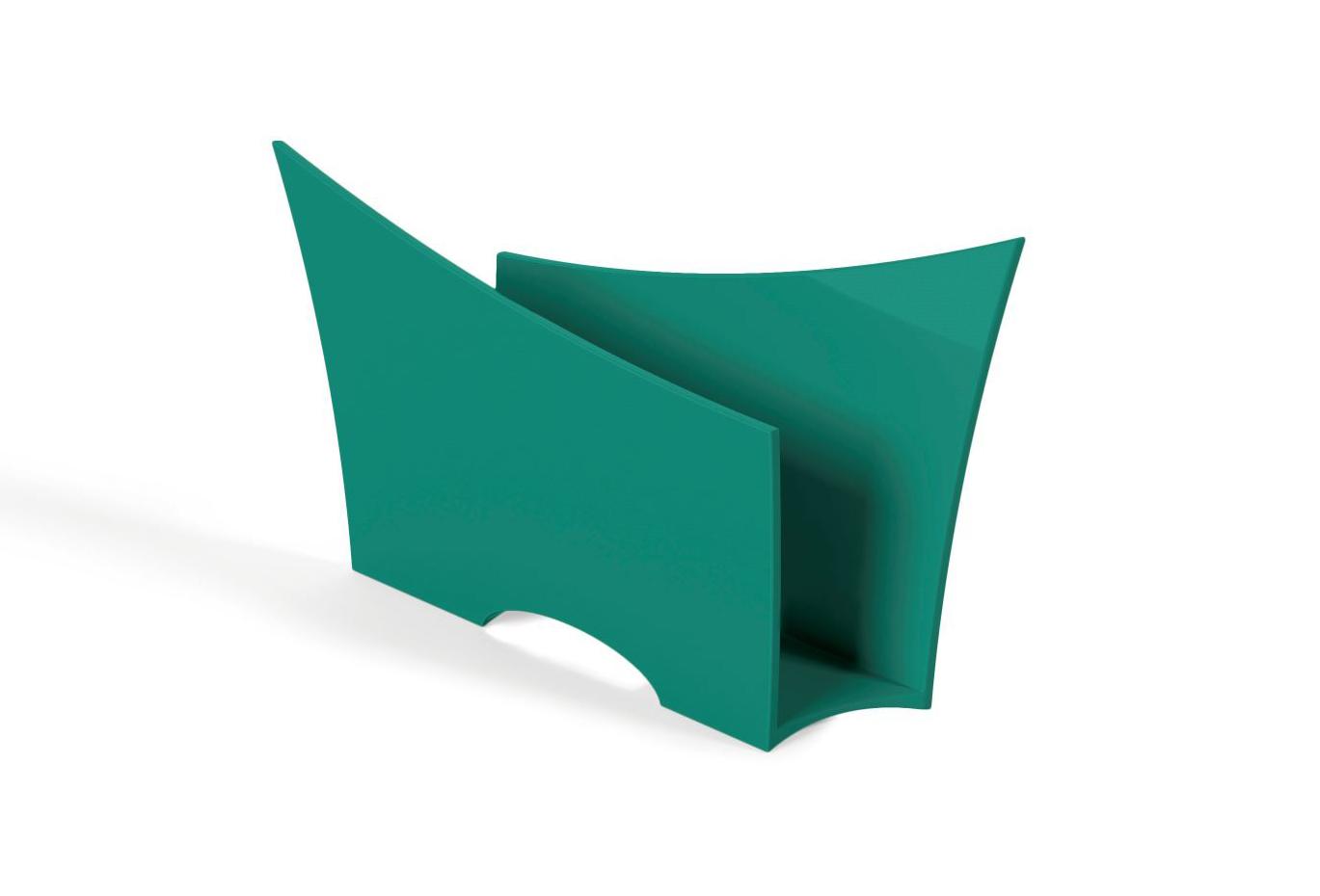Porta Guardanapo Quadrado Plástico UZ Utilidades Verde
