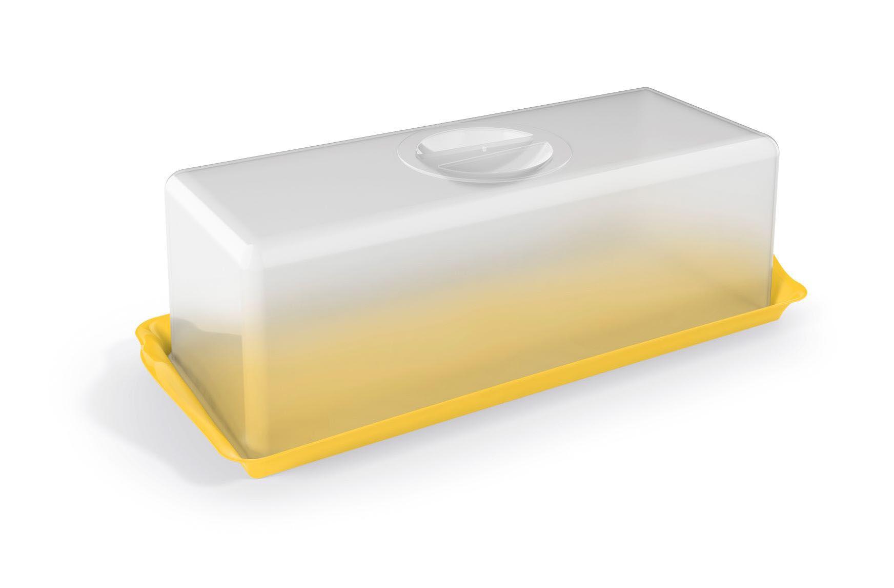 Porta Pão Premium Plástico Uz Utilidades Amarelo
