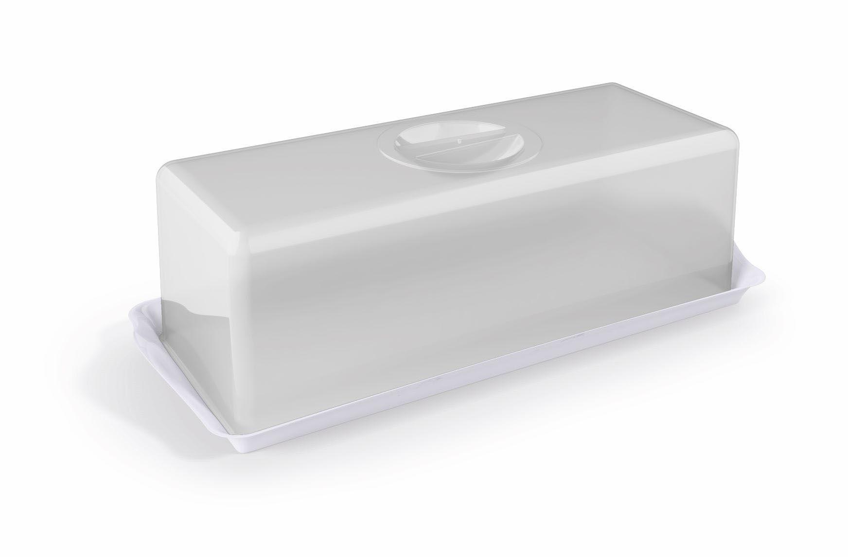 Porta Pão Premium Plástico Uz Utilidades Branco
