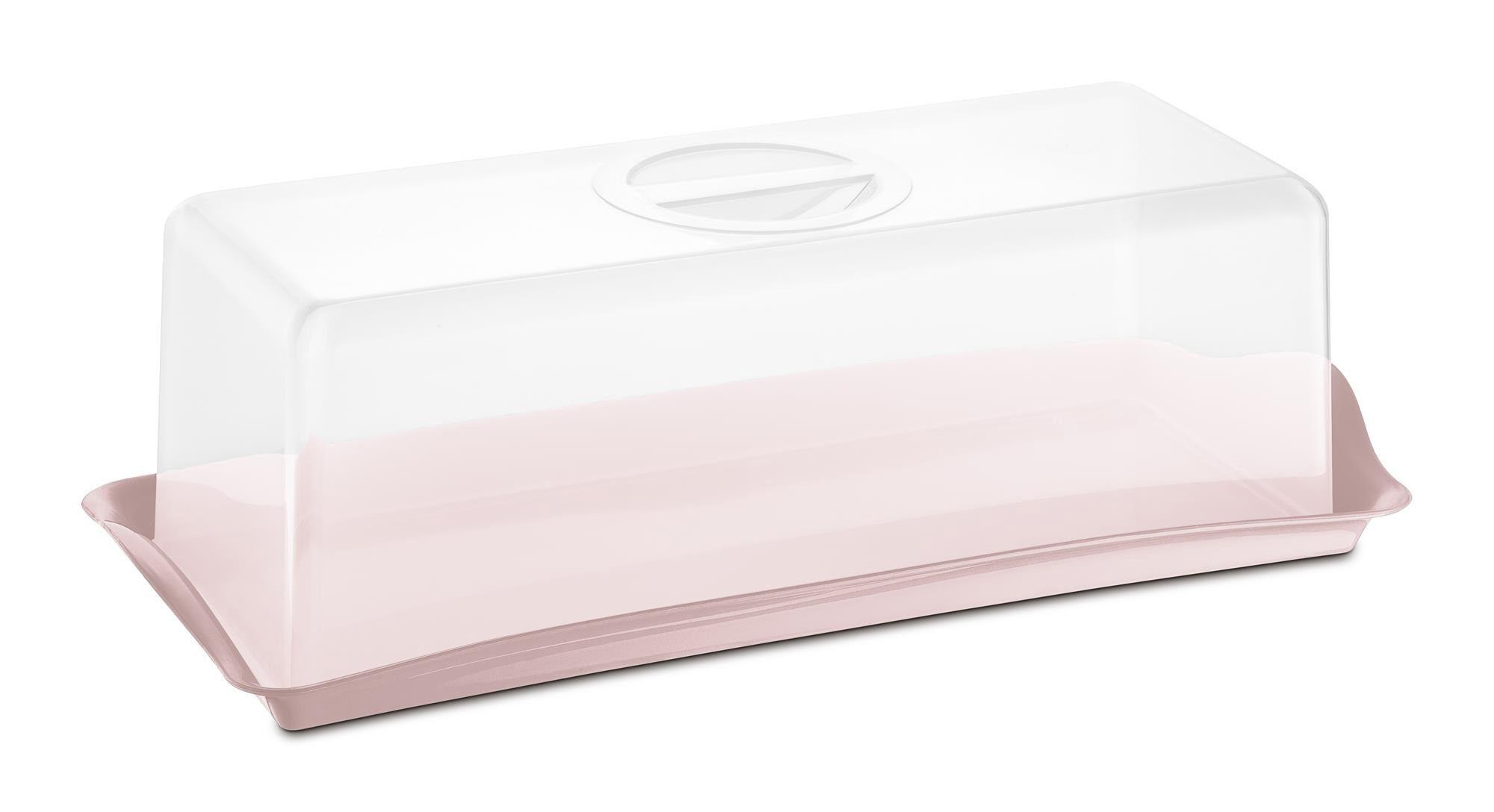 Porta Pão Premium Plástico Uz Utilidades Rosa