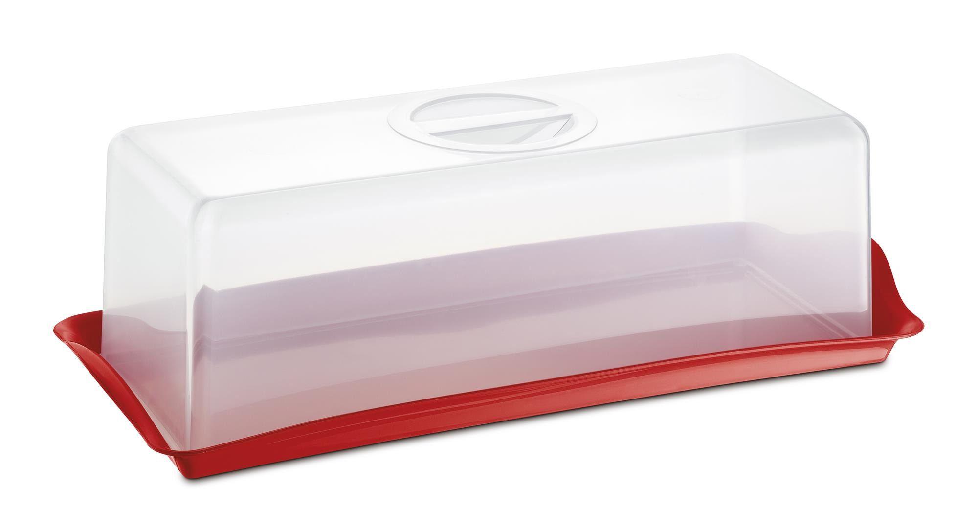 Porta Pão Premium Plástico Uz Utilidades Vermelho