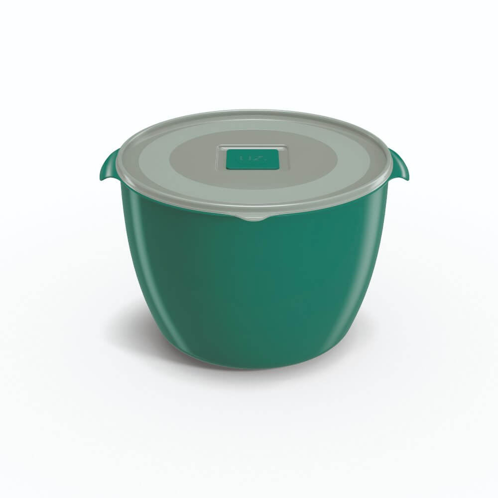 Pote Redondo 1,5 Litros Tampa Transparente UZ Utilidades - Verde