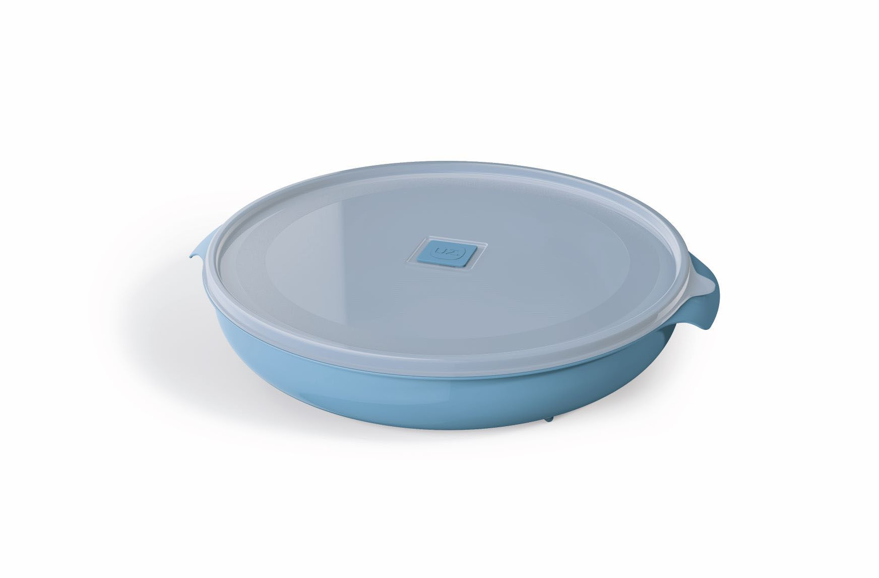 Pote Redondo 2,5 Litros Premium Tampa Transparente UZ  Azul