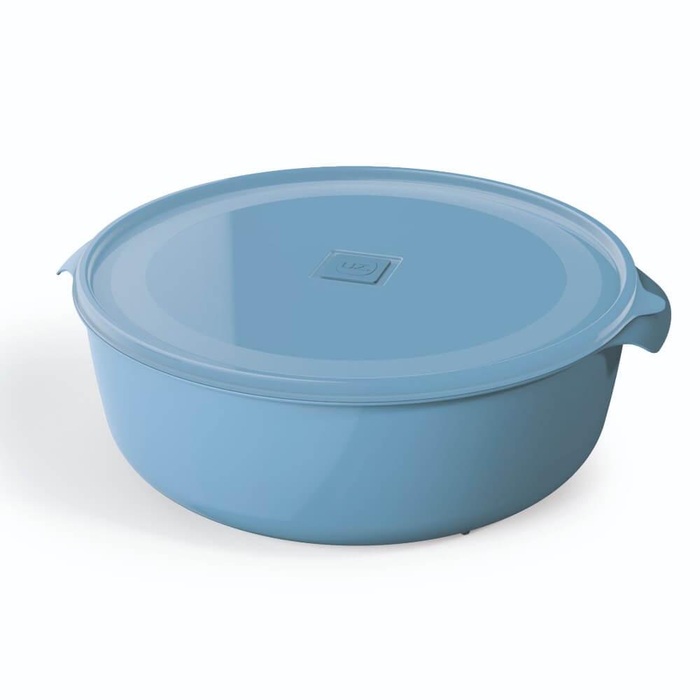 Pote Redondo 5 Litros Premium Tampa Colorida UZ - Azul