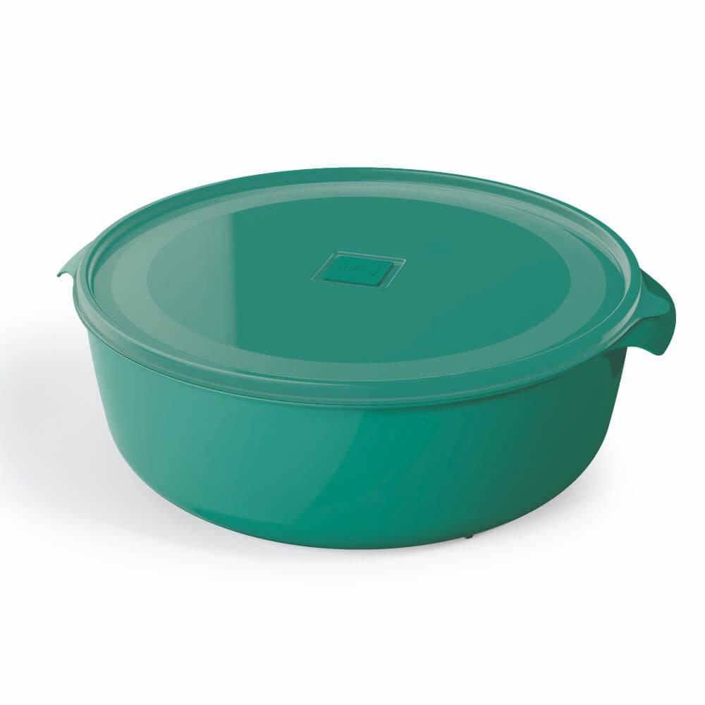 Pote Redondo 5 Litros Premium Tampa Colorida UZ - Verde