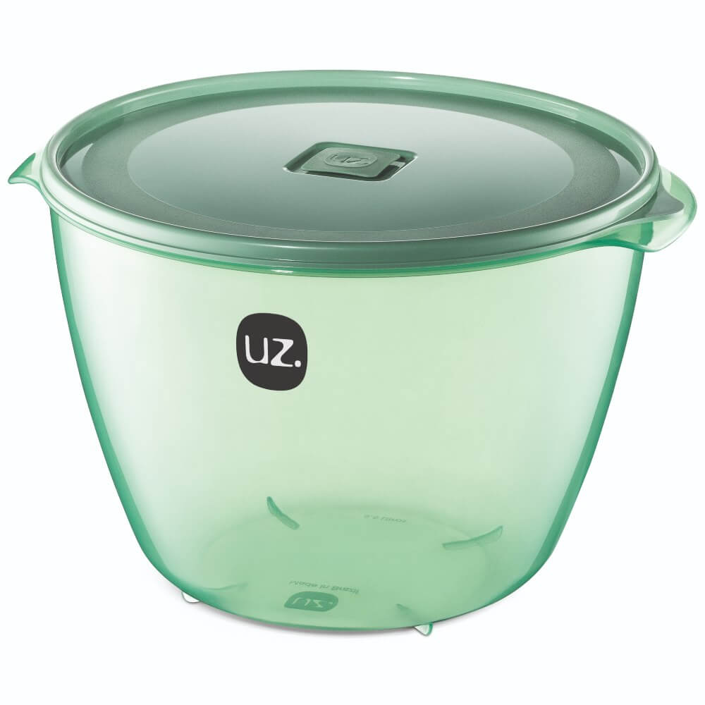 Pote Redondo Premium 5,5 Litros Vision UZ - Verde