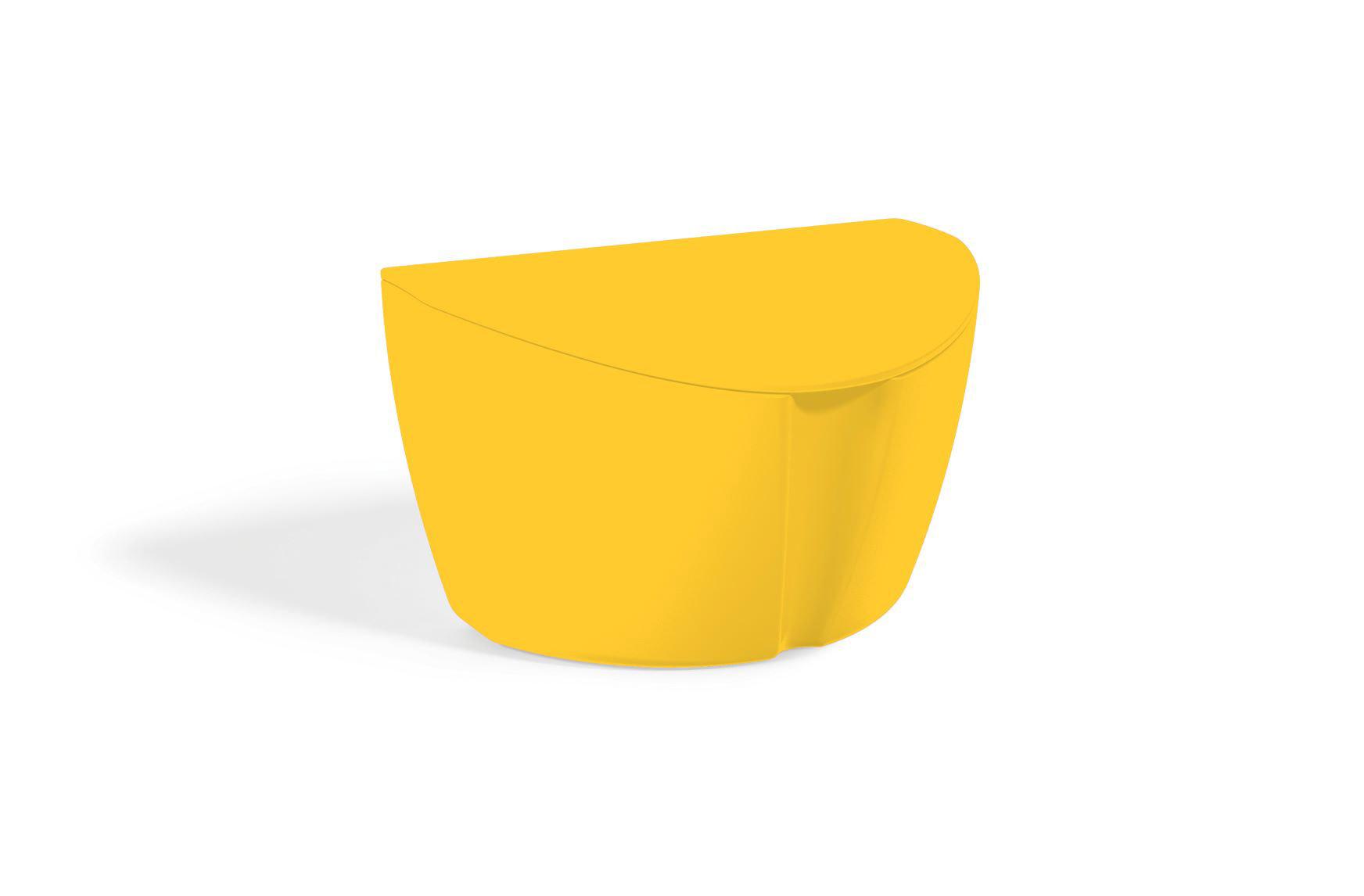 Saleiro Plástico Sólido em Polipropileno 500ML UZ - Amarelo