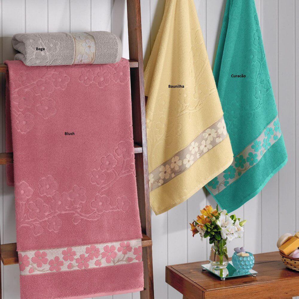 Toalha De Banho Bordado Nara 100% Algodão Bouton Buettner - Blush