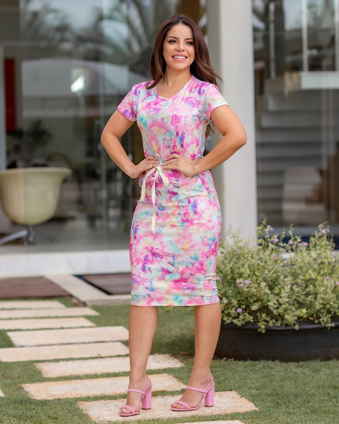 Conjunto Feminino Tubinho Tie Dye Az Irmãs Paola Santana
