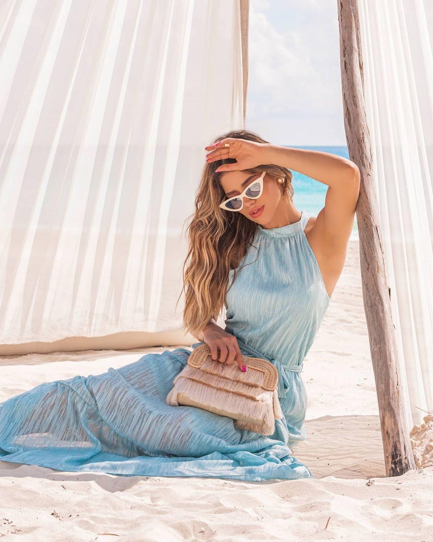 Vestido Longo Godê com Marias Gola Alta Doce Flor