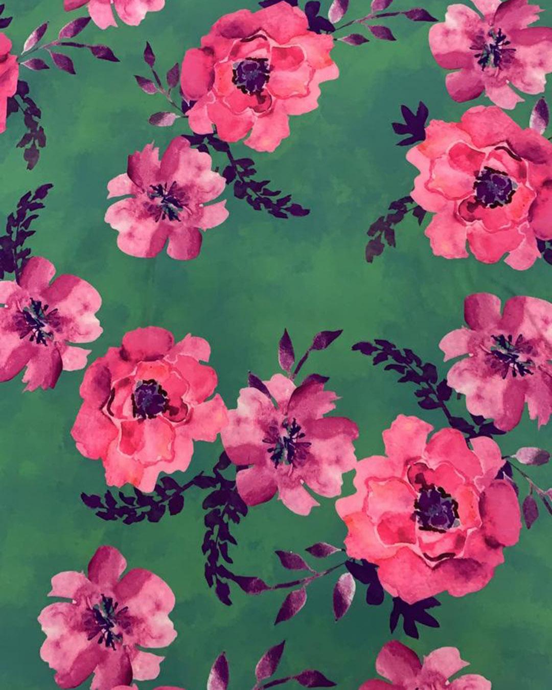 Vestido Longuete Floral Três Marias Lastex e Manga Bufante