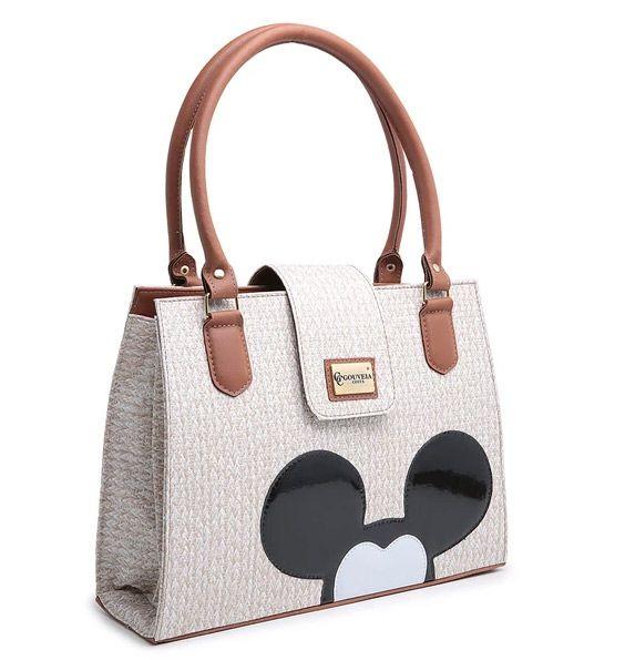 Kit Bolsa Feminina + Carteira Mickey