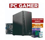 Computador Intel Core I5 9400F, 16GB Ram, 1 TB HD Seagate, Placa de vídeo 1050 TI