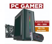 Computador Processador Intel Core i3 10100F, 8Gb Ram, Placa de Vídeo Rx550, 1 TB HD Seagate Barracuda.