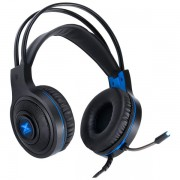 FONE HEADSET GAMER VINIK VX GAMING LUGH LED AZUL