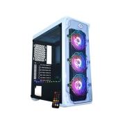 GABINETE GAMER K-MEX MICRO ATX/ATX/ITX SEM FONTE TROOPER POLYGON CG-07B1 BRANCO RGB