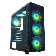GABINETE GAMER K-MEX MICRO ATX/ITX SEM FONTE CG-08G8 INFINITY POLYGON PRETO