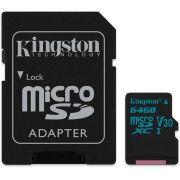 MEMÓRIA MICRO SD KINGSTON 64GB CLASSE 10