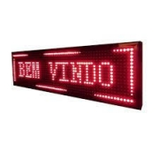 PAINEL DE LED 100X20 VERMELHO
