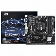PLACA MÃE AMD M2 AM4 ECS B450AM4-M VGA/DVI/HDMI USB 3.1