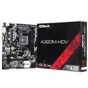 PLACA MÃE AMD AM4 ASROCK A320M-HDV VGA/DVI/HDMI/DDR4