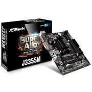 PLACA MÃE INTEL COM PROCESSADOR EMBUTIDO ASROCK DUAL CORE 2.5GHZ DDR3L/DDR3/DVI/HDMI