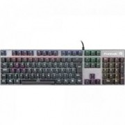 TECLADO USB FORTREK GAMER MECANICO RBW BLACK HAWK DARK GREY