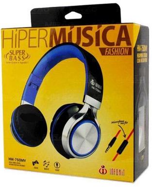 FONE COM MICROFONE HIPER MUSICA HM-750MV