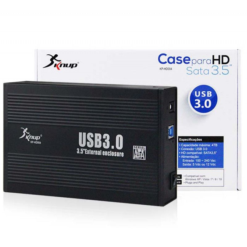 GAVETA/CASE HD 3.5 SATA USB 3.0 MD:HD004