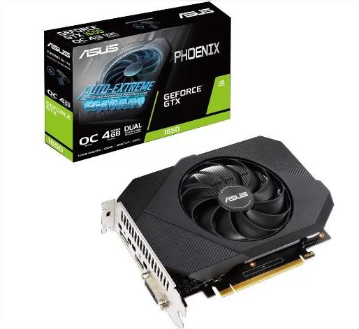 PLACA DE VÍDEO ASUS PHOENIX GEFORCE GTX 1650/OC/4GB/GDDR6/HDMI/DP/DVI