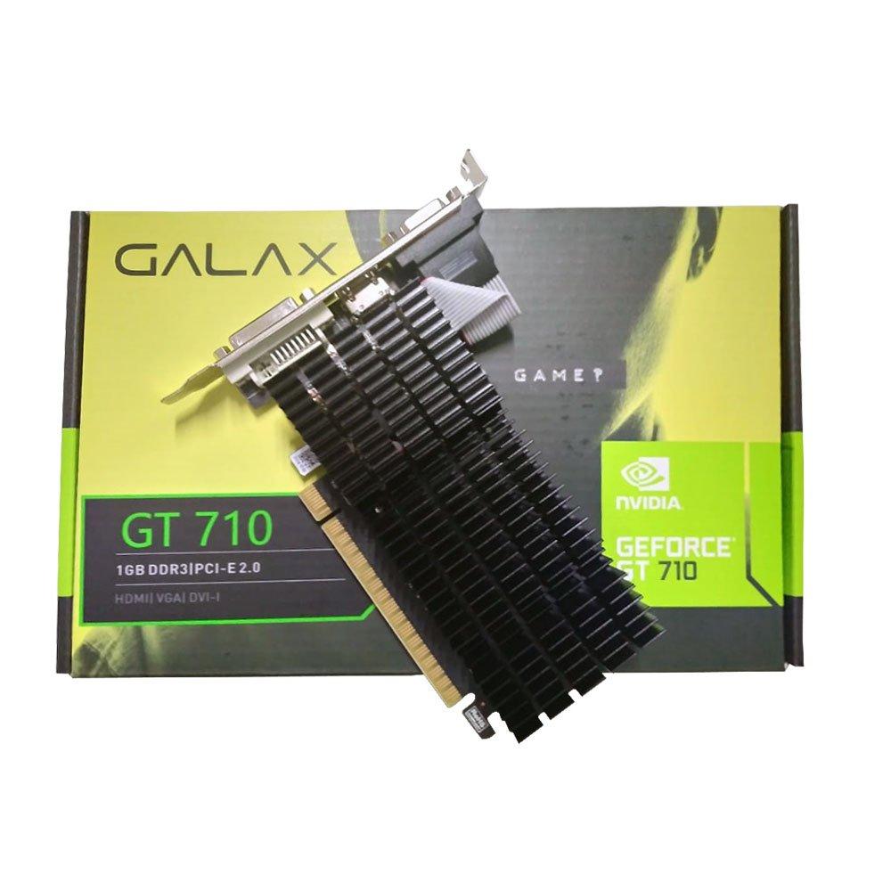 PLACA DE VIDEO GALAX GEFORCE GT 710/DDR3/1GB/64BITS/DVI/HDMI/VGA/LOW PROFILE