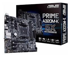 PLACA MÃE AMD AM4 ASUS A320M-E DDR4 OC
