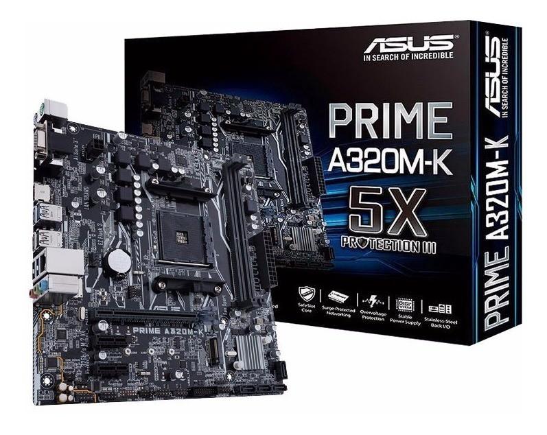 PLACA MÃE ASUS AM4 ASUS PRIME A320M-K/AM4 DDR4